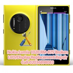 Nokia Lumia 1020 RM-875 Broken LCD/Display Replacement Repair