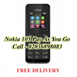 Nokia 105 Black Pay As You Go Phone Unlocked