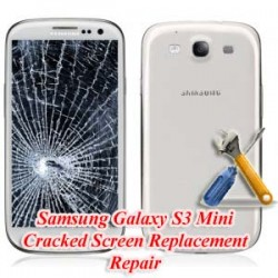 Samsung Galaxy S3 Mini I8190 Cracked Screen Replacement Repair
