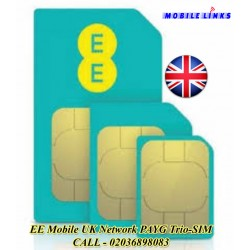 EE UK Network PAy As You Go Sim