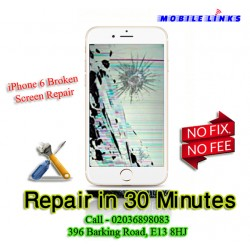 iPhone 6 Broken Screen Instant Replacement Repair in 30 Minutes